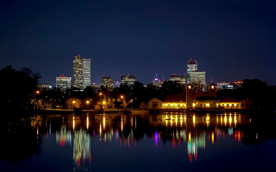 Night Shoot: Ferril Lake at City Park, Denver