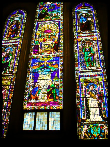 Stained glass masterpieces 3+ stories tall