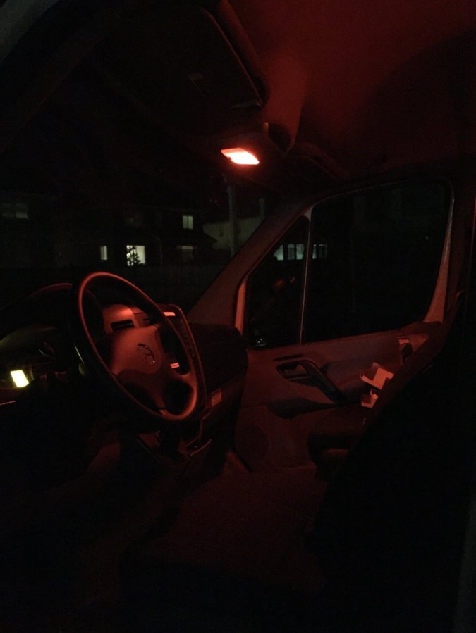 If you think about it, the only time you use your interior lights in the car, is at night. Kids won't wake up under this light.