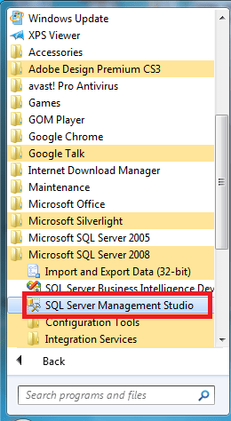 SQL Server 2008 Basics & Connection with VS2010 (1/6)