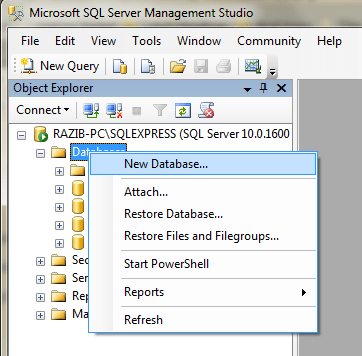 SQL Server 2008 Basics & Connection with VS2010 (5/6)