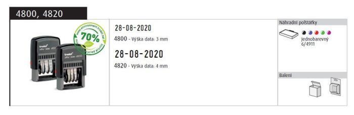 Razítko Trodat Printy 4810, datumovka, datumové razítko, 3,8 mm