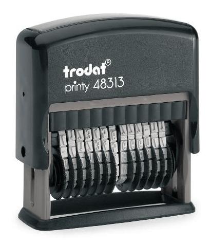 Razítko Trodat 48313, 13 míst, 4mm, číslovačka
