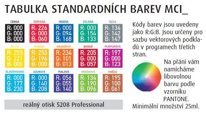 MCI vzorník barev