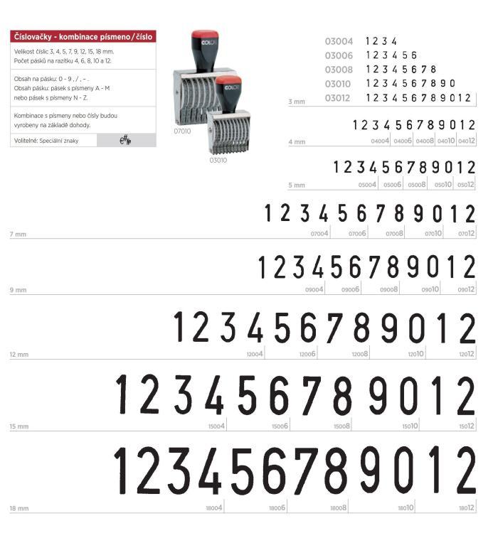 Colop 18012 číslovačka