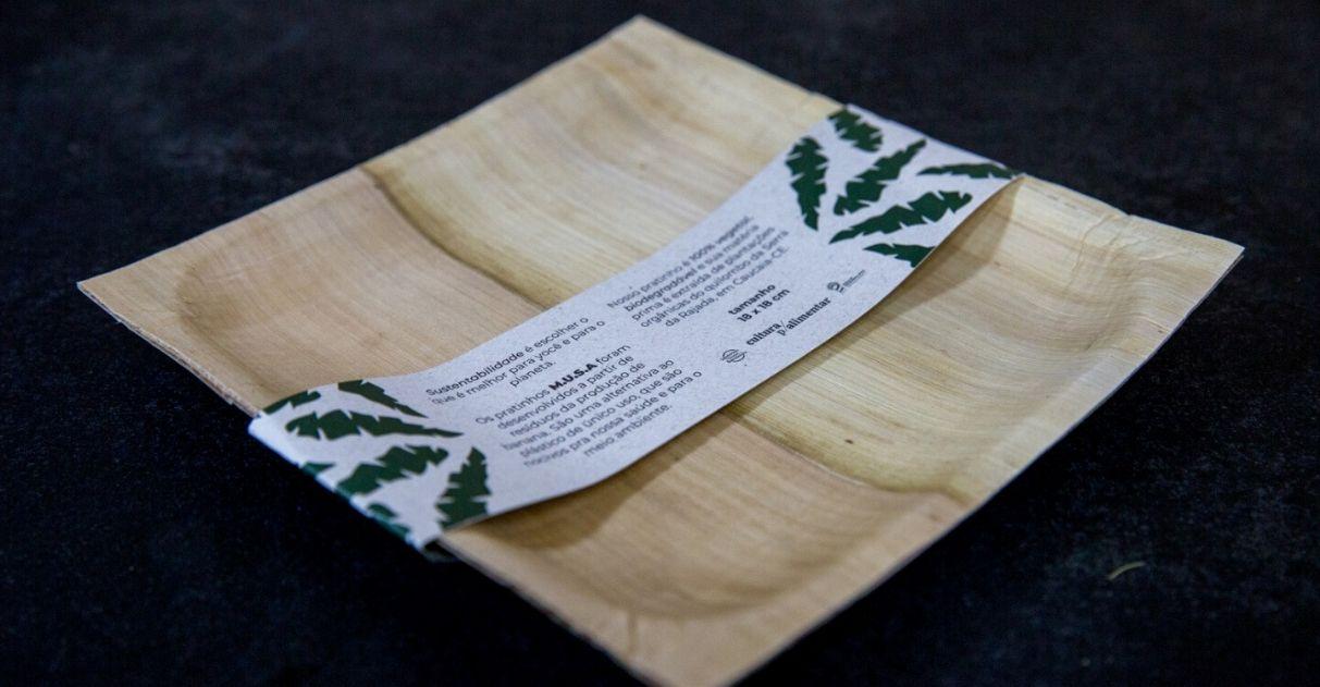Pesquisadora cearense cria prato 100% biodegradável feito com bananeira de quilombo