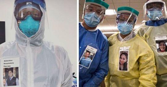Médicos criam crachás de si mesmos sorrindo para confortar pacientes com Covid-19 | Razões para Acreditar