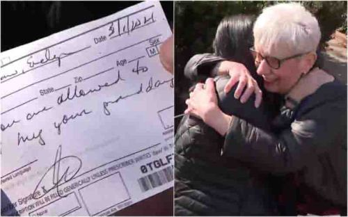 neta abraça avó receita médica