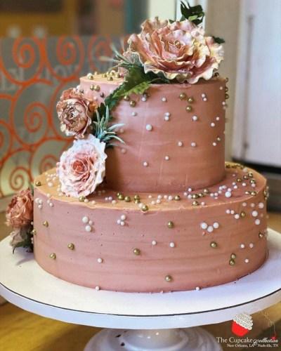 bolo enfeitado rosas