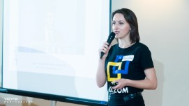 Razom Vice President, Anastasiia Rybytsky, gave everyone an update on the Reformers Without Borders program that was launched just a few months ago.