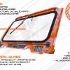 Polaris RZR glass windshield