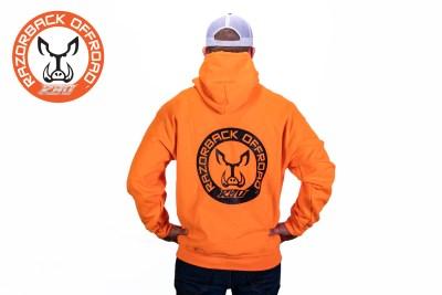 Razorback Hoodie Orange Back