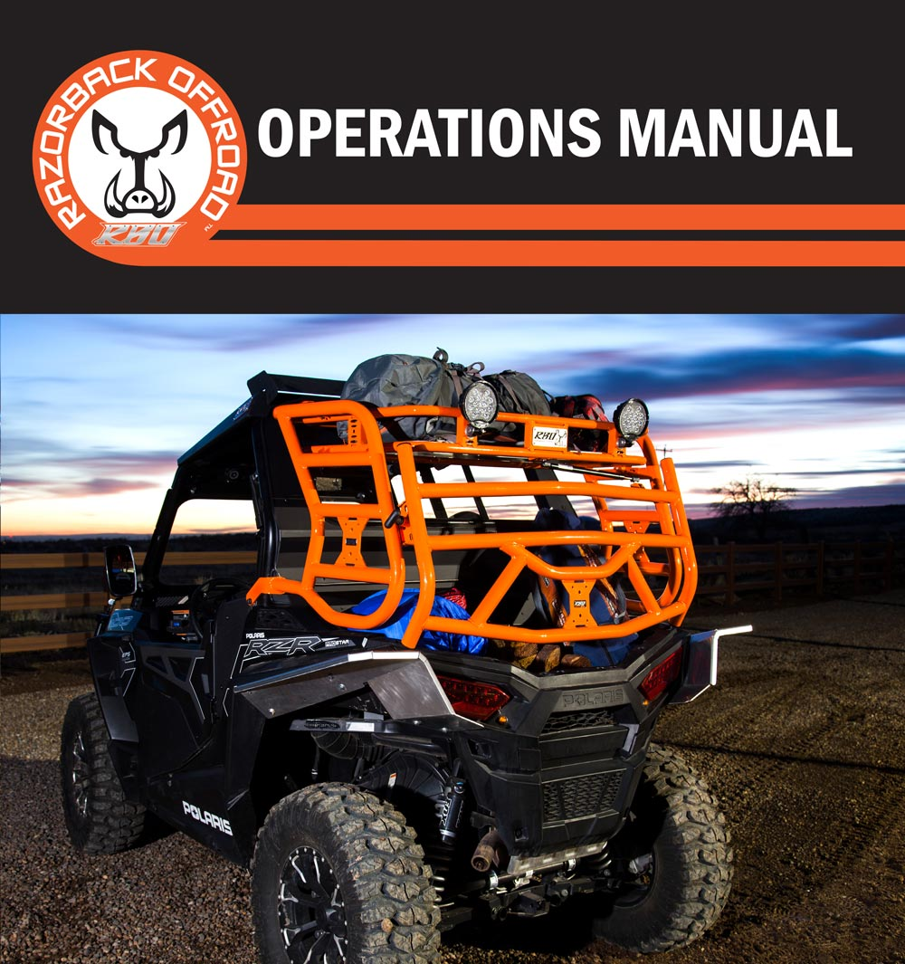 Operations Manual for the RZR 900 Sherpa Expedition Rack