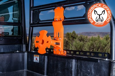 Orange UTV and Side by Side Spare Tire Mount for the Polaris Ranger