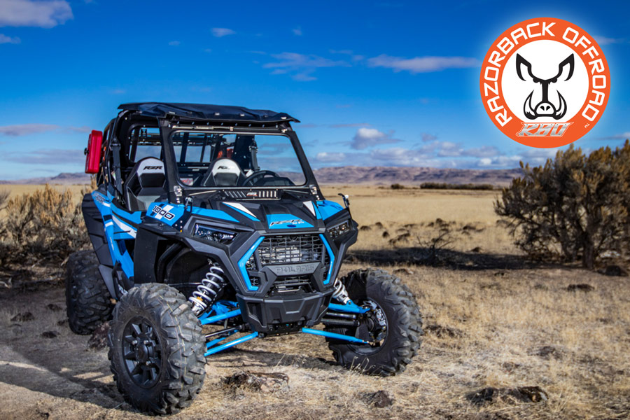 2019 - Current Polaris RZR 1000 Front Folding Windshield with Wiper & Vents