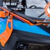 Rubber stoppers on Polaris RZR front folding glass windshield
