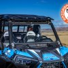 Polaris RZR front folding glass windshield with wiper