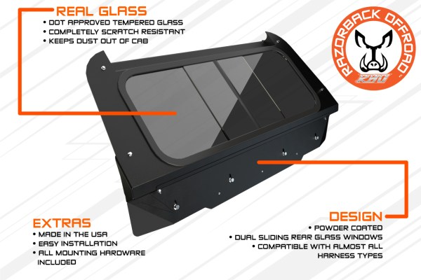 Polaris RZR Rear Window