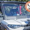 Mounted and latched Polaris Ranger Glass Windshield