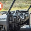 Polaris Ranger Side by Side out on the trail with foldable windshield
