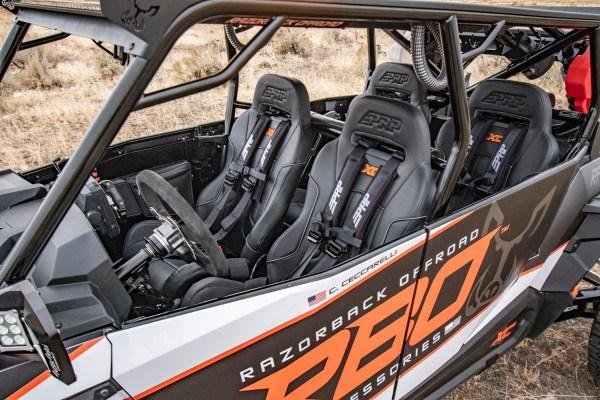 PRP Seats Wireless Steering Wheel Racing Vinyl Wrap for Polaris RZR Turbo S Custom UTV SEMA Build