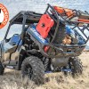 Dump bed view of Polaris General Spare Tire Mount Shown on rack