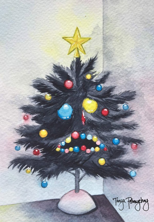 Beautiful Xmas Tree original painting