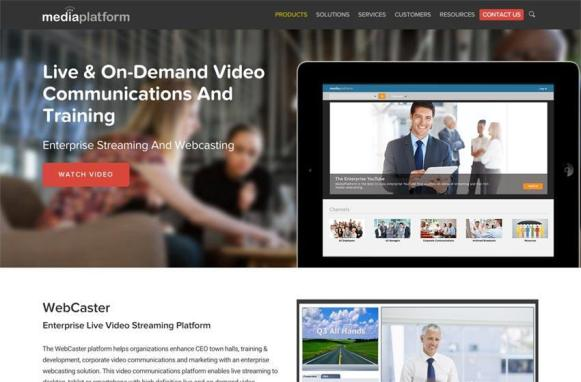 MediaPlatform New Site Products Page
