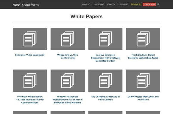MediaPlatform New Site White Papers Archive