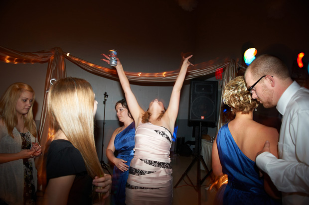 dancing on the wedding dance floor