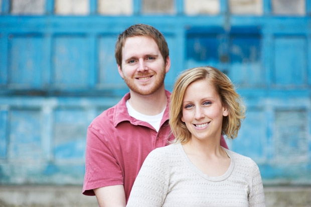 Cedar Rapids Iowa engagement photo