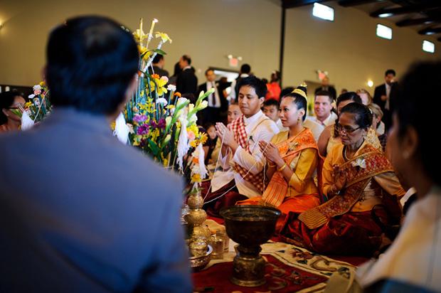Traditional Lao wedding ceremony