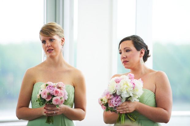 bridesmaids during the ceremony