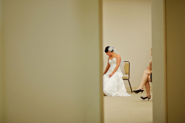 bride waiting before the wedding ceremony