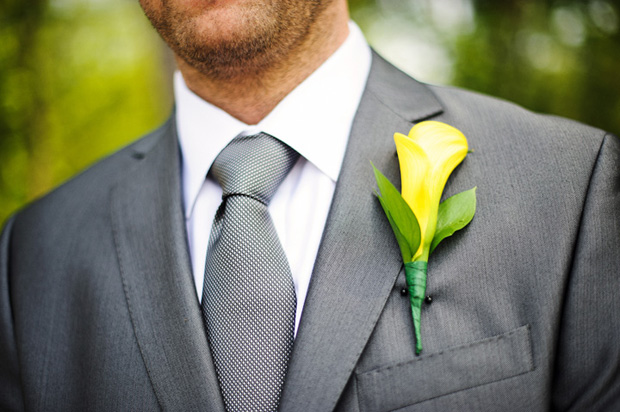 Detail of the groom boutonniere