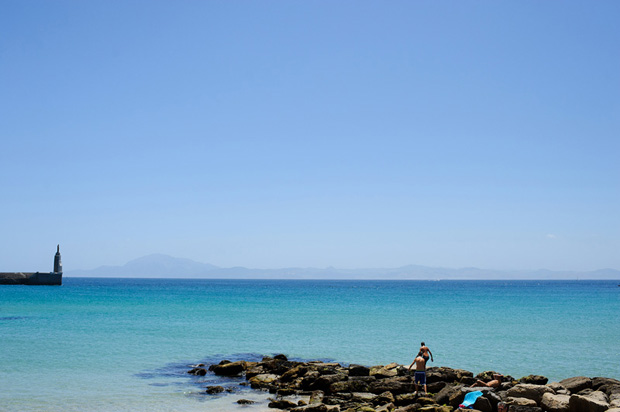Tarifa, Spain - view of the Gibraltar straight