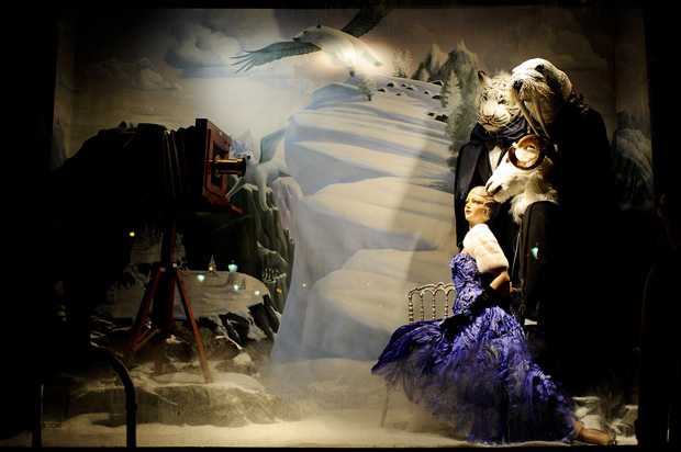 famous bergdorf goodman windows decorated for christmas