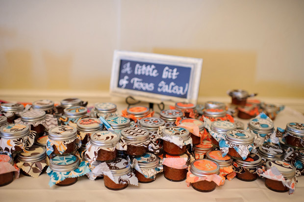 A little bit of texas salsa as wedding favors