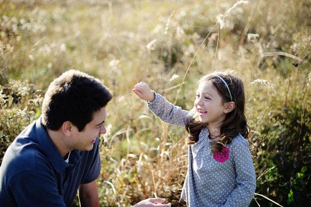 Father and kid having fun