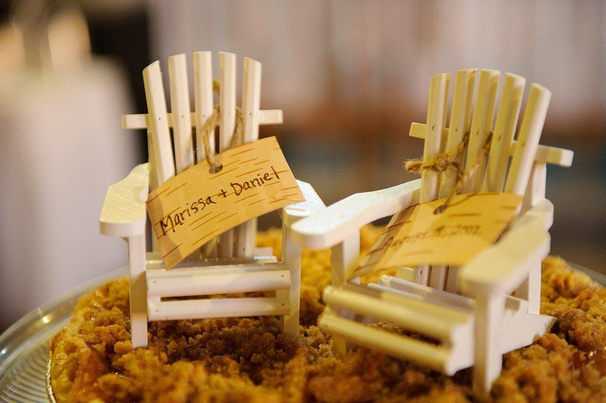 barn wedding pie toppers