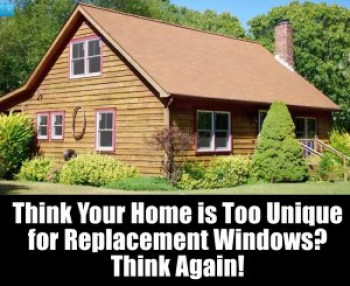Replacement windows in Long Island Log Cabin