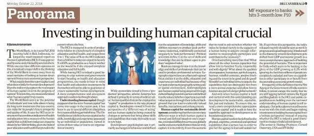 Article on Human Capital DH 22 Oct 18