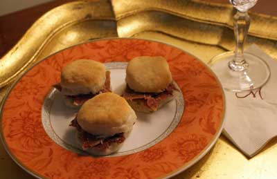 country ham and angel biscuits