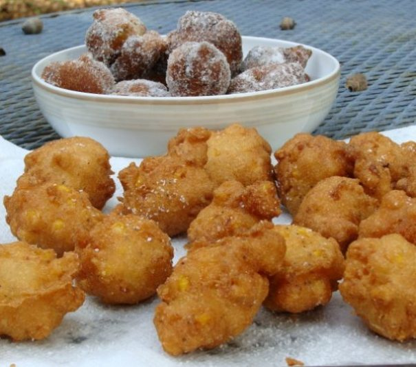 clam cakes and souther fritter batter