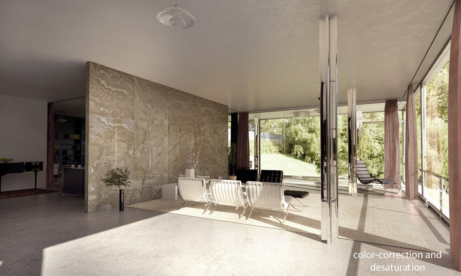 Tugendhat House Interior By Lasse Rode Xoio 3D