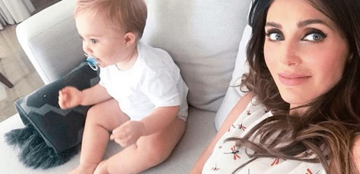 Em vídeo emocionante, Anahí mostra filho a benzendo