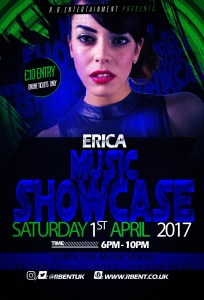 ERICA Music showcase Flyer ACts