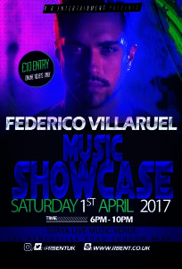 Federico Music showcase Flyer ACts