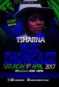 Tsharna Music showcase Flyer ACts