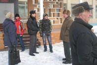 Сбор возле школы
